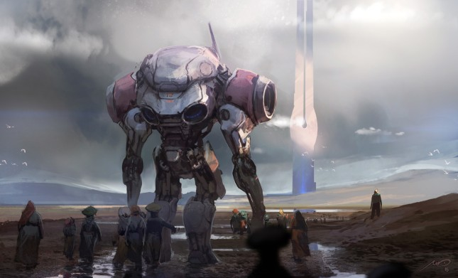 futuristic-giant-robot-720P-wallpaper